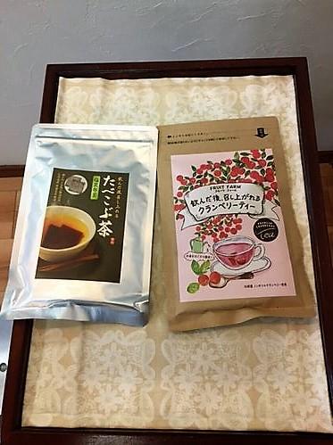 昆布茶とクランベリーティー