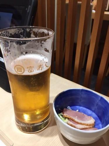 富寿司 長岡駅前店 生ビール