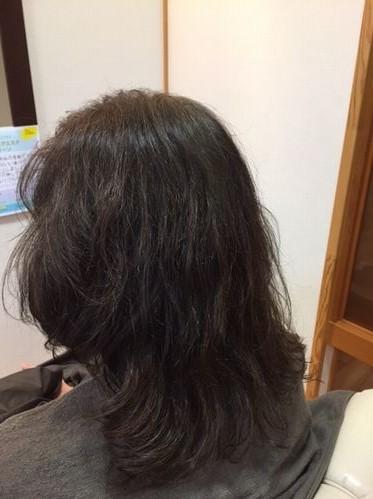 長岡市 美髪 ハナヘナハーバルブラウン染め後