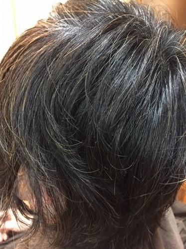 ハナヘナ前の湯シャン素髪
