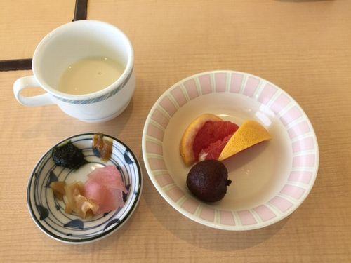 スープとフルーツ