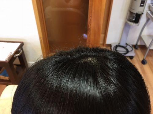 香草カラー施術後2