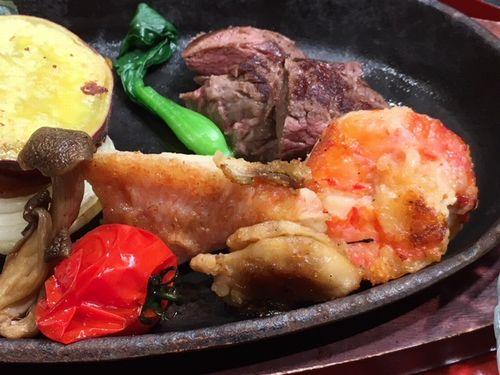 海鮮ステーキ鉄板膳2