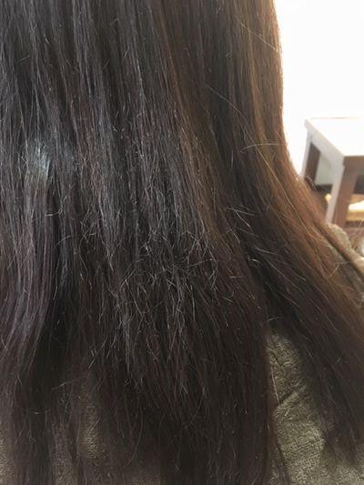 髪がチリチリしている