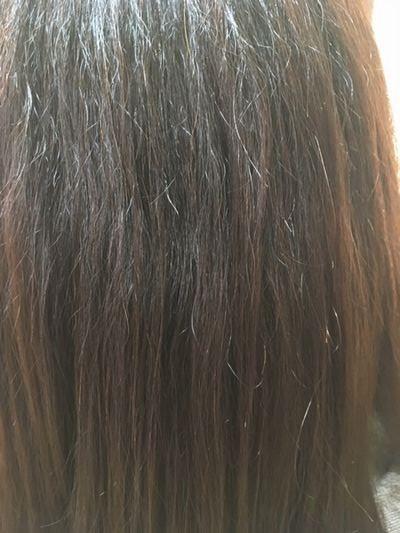 ハナヘナでビビリ毛改善