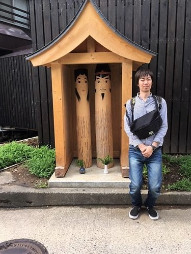 道祖神像にて