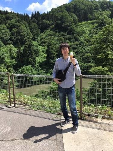 栄村 道の駅でソフトクリーム