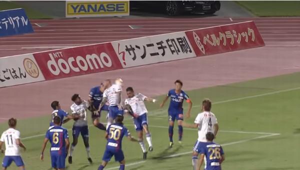J2甲府1-1新潟 レオナルドのゴールっ!