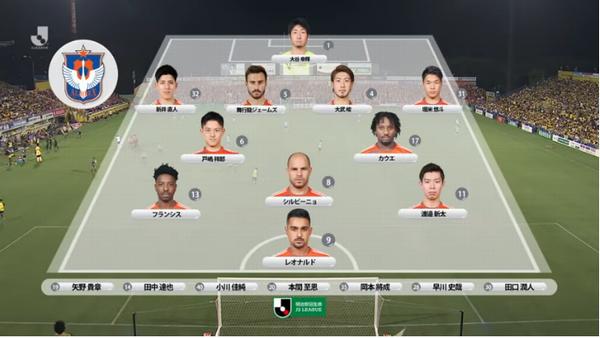 J2新潟 第30節出場メンバー