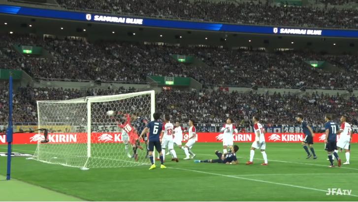 日本6-0モンゴル 2得点目
