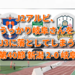 J2アルビ 第40節 新潟2-0岐阜