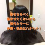 髪をなるべく傷ませないカラー+ハナヘナ