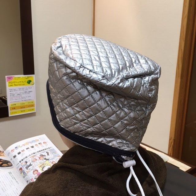 加温する帽子