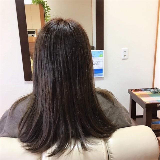 根元リタッチ中間・毛先ハナヘナ染め