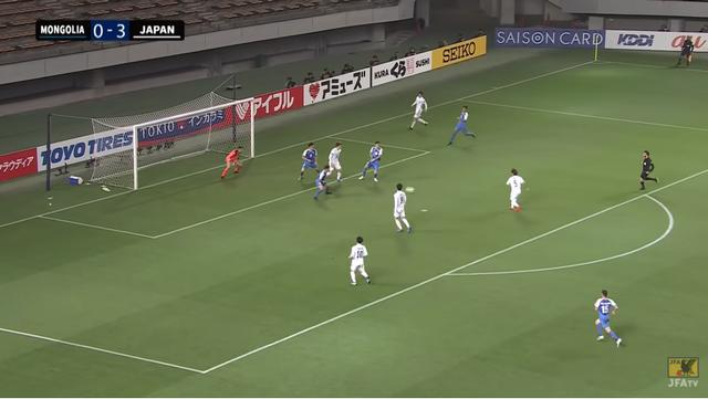 33分、4得点目 MF守田の代表初ゴールっ!