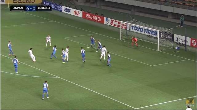 68分、7得点目 MF稲垣が代表初招集、初ゴールっ!