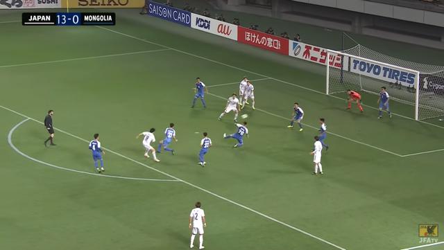 93分、14得点目 MF稲垣が2ゴール目っ!