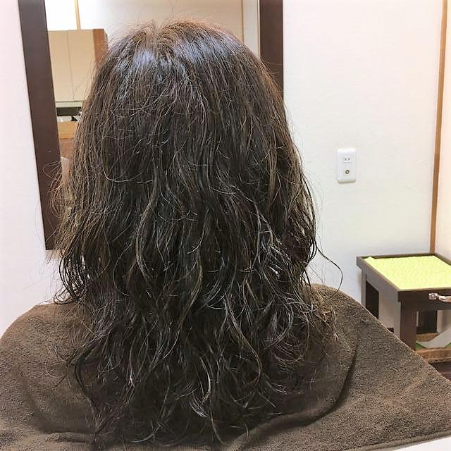 ハナヘナ髪にデジタルパーマ
