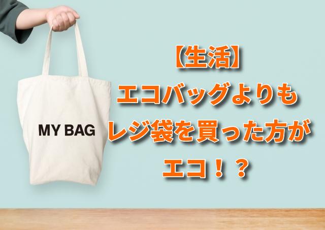 【生活】エコバッグよりもレジ袋を買った方がエコ!?