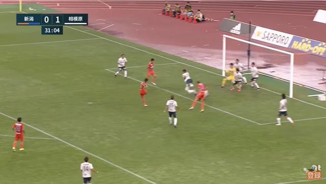 32分、1得点目 MF福田の移籍後初ゴールっ!