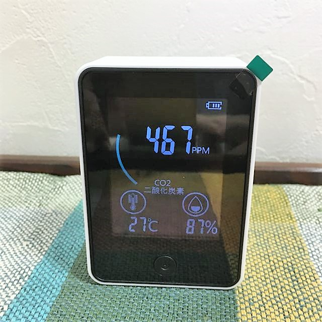 日本企業TOMONARI社製のCO2センサー