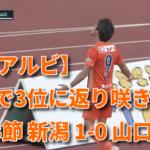 【J2アルビ】勝利で3位に返り咲き! 第33節 新潟 1-0 山口